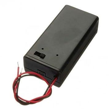 2 Stück Schwarz Kunststoff Batteriehalter Kasten Kasten m Draht für 2xAAA Batte