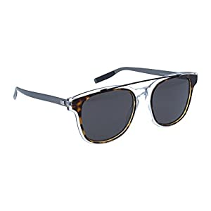 Dior Homme 211S LCQ Havana Crystal Matte Ruthenium 211S Wayfarer Sunglasses Len