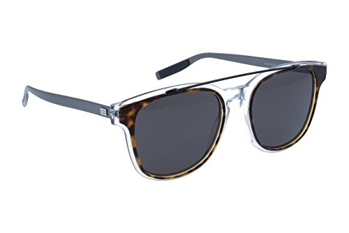 Dior Homme 211S LCQ Havana Crystal Matte Ruthenium 211S Wayfarer Sunglasses - With Crystals Dior Sunglasses