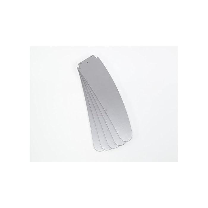 31gjcGhApLL Este ventilador de techo interior contemporáneo de 132 cm con acabado en cromo satinado es ideal para estancias de más de 25 metros cuadrados Cinco palas reversibles plateadas; la luminaria de vidrio opalino incluye 1 lámpara R7 de 80 W, compatible con LED Mando a distancia con tres niveles de velocidad, interruptores de encendido/apagado para el ventilador y la luz, conmutador inversor para funcionamiento de verano/invierno