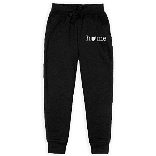 (Youth Sweatpants Home in Ohio State Jogger Pant Fashion Training Pants Black)