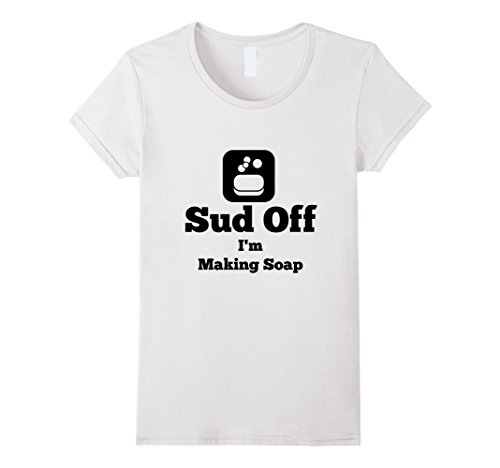 Womens Handmade Soap Making T-shirt XL White