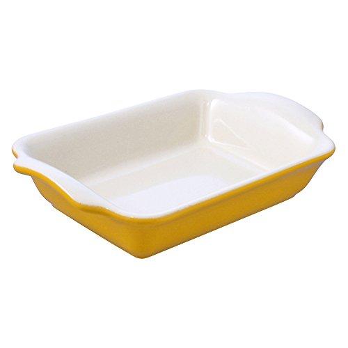 Swissmar Le Cordon Bleu Tendance Medium Rectangular Roasting Dish, 2.85 Quart, Jaune Yellow