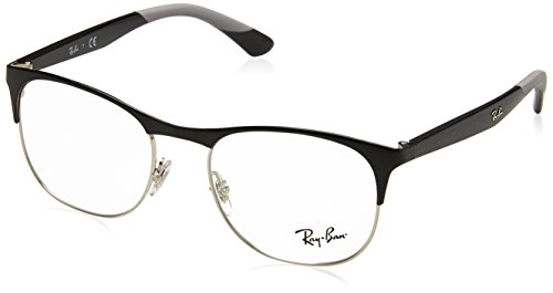 Ray-Ban Men's 0RX6412 Silver/Black One Size (Rayban Goggle)