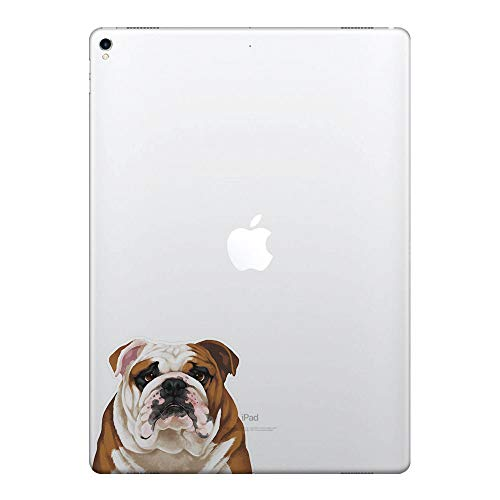 FINCIBO 5 x 5 inch Cute English Bulldog Removable Vinyl Decal Stickers for iPad MacBook Laptop (Or Any Flat Surface)