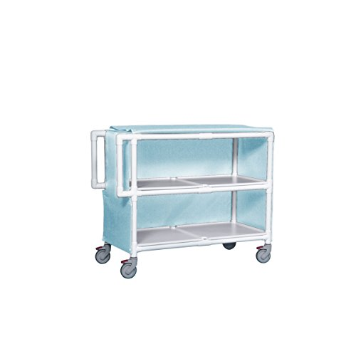 Jumbo Linen Cart - Two Shelves Sure Chek Light Blue ()