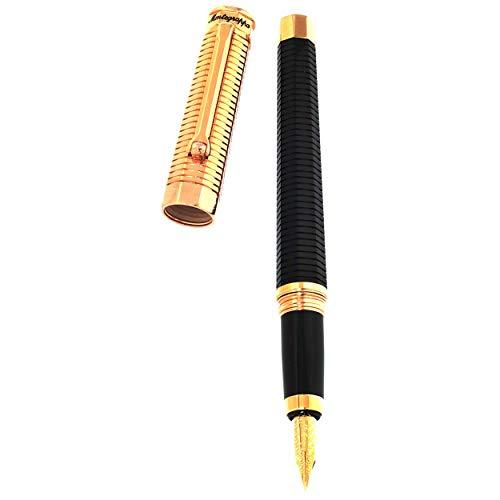 Montegrappa Nerouno Duetto Linea Rose Gold Black Medium Nib Fountain Pen