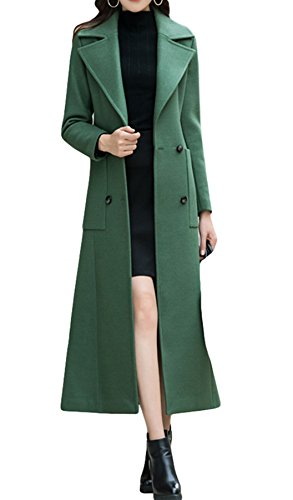 PENER Women's Fashion Cashmere Coat Long Trench Coat Woolen Coat (US 10)