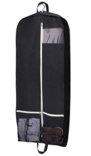 Sleeping Lamb Breathable Garment Bag 54' Dress/Suit Cover with 2 Large Mesh Pockets