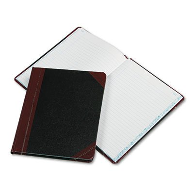 * Record/Account Book, Record Rule, Black/Red, 150 Pages, 9 5/8 x 7 5/8
