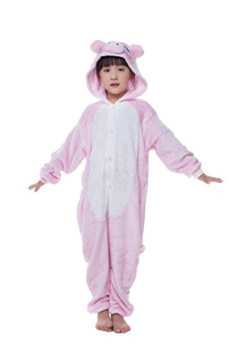 [Bettertime Unisex Childrens Pajamas Kids Halloween Cosplay Costume, Pink Pig, (Small)] (Pig Infant Costumes)