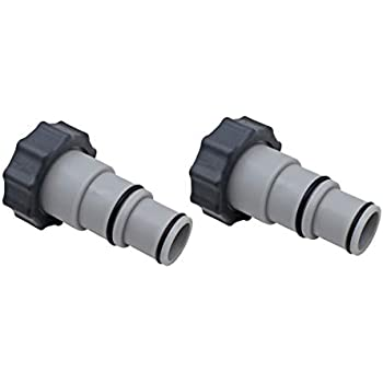Intex Replacement Hose Adapter A w// Collar for Threaded Connection Pumps Pair