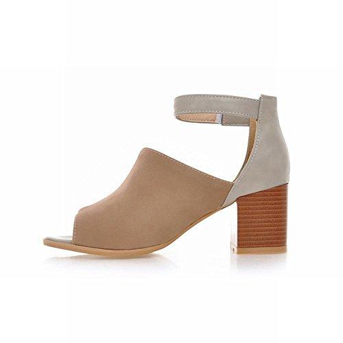 Carolbar Donna Estate Cinturino Alla Caviglia Con Cinturino Alla Caviglia E Sandali Tacco Medio Chic