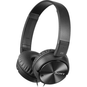 Sony Noise Canceling Headphones - Stereo - Mini-phone - Wired/Wireless - 220 Ohm - 10 Hz 22 kHz - Gold Plated - Over-the-head - Binaural - Supra-aural - 3.94 ft Cable - MDRZX110NC