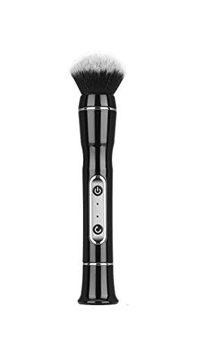 Makeup Brushes Electronic USB Charging Premium Synthetic Foundation Brush Blending Face Powder Blush Concealers Make Up Brush-black,white (Color : ()