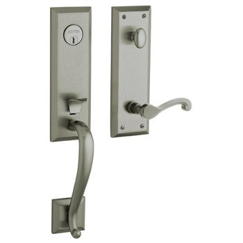 Nickel Dummy Boulder - Baldwin Hardware 85355.151.LFD Handle Set