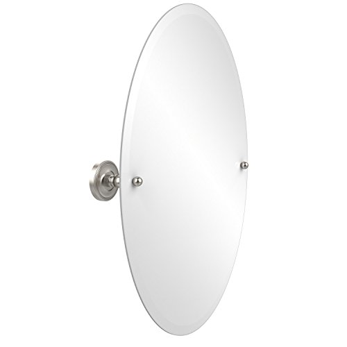 Allied Brass PR-91-SN  29-Inch X 21-Inch Oval Tilt Mirror, Satin Nickel by Allied Brass
