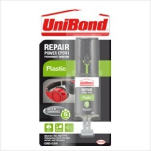 UniBond Repair Plastic Power Epoxy Syringe 25ml