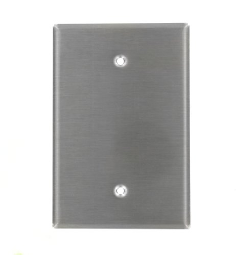 (Leviton 84114-40 1-Gang No Device Blank Wallplate, Oversized, Device Mount, Stainless Steel)