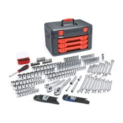 219 Piece Master Tool Set With Drawer Style Carry Case Tools Equipment Hand Tools by KD Tools
