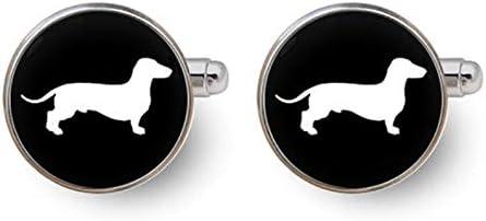 Death Devil Art Picture Cufflinks,Dachshund Dog Cufflinks Dog Cufflinks Dachshund Jewelry Dachshund Gifts