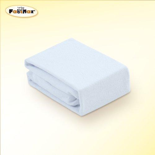 FabiMax Frottee Spannbettlaken 45x85cm für Stubenwagen und Bollerwagen, weiß