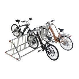 """59-3/4""""L Grid Bike Rack, Double Sided, Powder Coated Galvanized Steel, 10-Bike Capacity"""