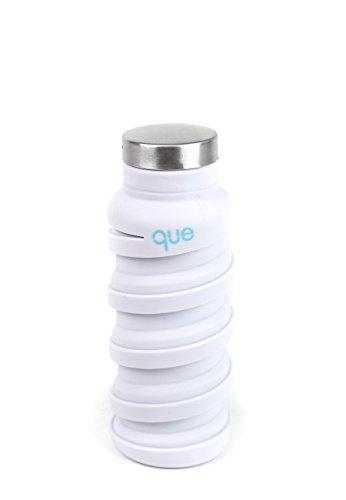 - que Bottle - Fashionable & Collapsible 12oz Water Bottle (Glacier White)