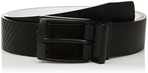 [해외]Nike Men`s Standard Carbon Fiber-Texture Reversible Belt / Nike Men`s Carbon Fiber-Texture Reversible Belt, blackwhite, 38