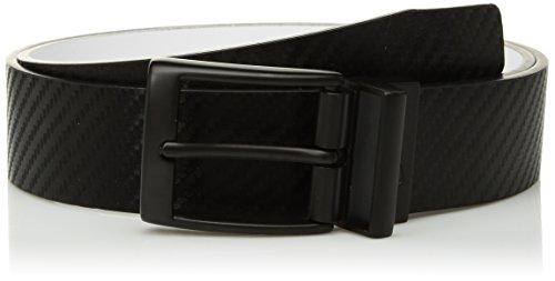Nike Men's Carbon Fiber-Texture Reversible Belt, Black/White, 38