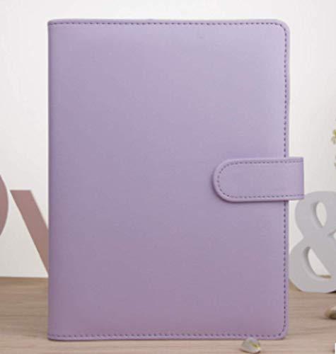 노트 커버 A5 수첩 루스 리프 바인더 다이어리 케이스 A5 아기 수첩 커버 무지 18x23cm 4 색 (라벤더 퍼플) / Notebook Cover A5 Notebook Loose Leaf System Notebook Binder Case A5 Cute Notebook Cover Plain 18x23cm 4 Colors (Lavender Purple...