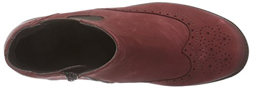Ganter FRIDA, Weite F - botas chelsea de cuero mujer rojo - Rot (rubin 4300)
