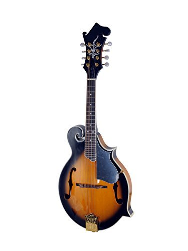 ADM Traditional F Style Solid Spruce Top Mandolin with F Hole, Sunburst Gloss by All Days Music