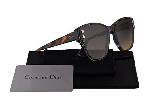 Christian Dior DiorAddict 2 Sunglasses Blue Havana w/Black Brown Green Lens 59mm JBW86 DiorAddict2S DiorAddict2/S Dior Addict 2S Dior Addict 2/S Dior Addict 2 (Dior Sunglasses Brown Lens)