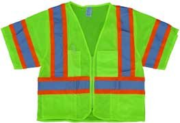 - ANSI Class 3 XL Lime Mesh Supervisor's Safety Vest w/Sleeves, Hi Visibility Reflective Construction Clothing & Apparel