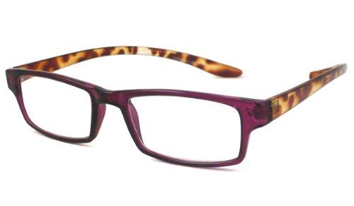 Able Vision Reading Glasses - HUG25 - Purple Tortoise Two Tone / HUG25 Purple Tortoise Two Tone +1.25-HUG25PRPTRT125