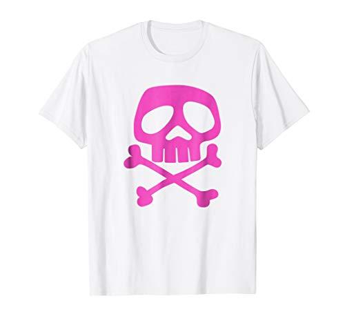 (Mens Pink Punk Rock Skull and Bones - 1980's Punk Rock Misfit XL)