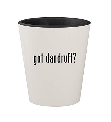 got dandruff? - Ceramic White Outer & Black Inner 1.5oz Shot Glass