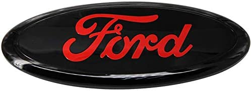 11-14 Edge 06-11 Ranger Shenwinfy Oval 9X3.5 Inch Front Grille and Rear Tailgate Emblem for Ford 2004-2014 F150 11-16 Explorer 2005-2007 F250 F350 Black and Red