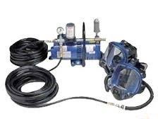 Allegro New Media Double Worker Fresh Air System, 200' Hose, 2 Face Masks, 2 Packs Tear-Offs 9210-02