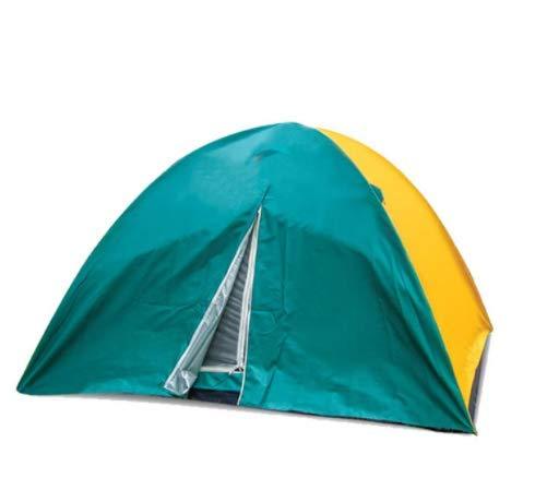LYgMV 屋外の6人用ダブルデッカーキャンプテント日焼け止め防蚊キャンプテント登山野生のビーチテント   B07QCP4NRK