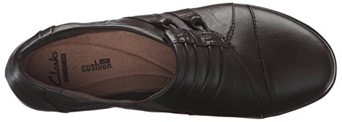 Clarks Womens Everlay Easley Slip-on Loafer Mörkbrunt Läder