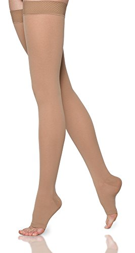 SIGVARIS SELECT COMFORT 860 Open-Toe Thigh-High Medical Hose 30-40mmHg