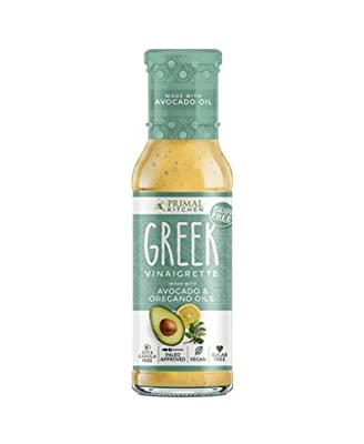Primal Kitchen Avocado Oil Dressing & Marinade, Greek, 8 Ounce, Dairy-Free