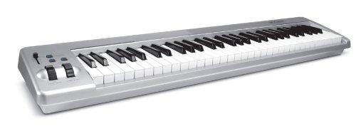 M-Audio Keystation 61ES 61-Key USB MIDI Keyboard Controller with Semi-Weighted Keys (OLD MODEL) (Best Semi Weighted Keyboard)