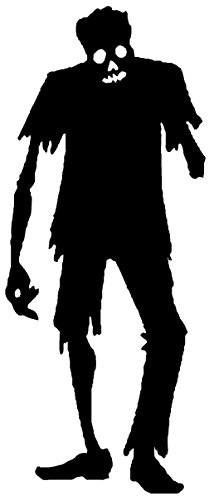 (Newclew Zombie one arm with bone Walking undead Halloween Wall Decal Sticker Art Fun Décor Large )