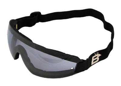 Birdz Eyewear Wing Skydive Skydiving Sports Goggles with Blue Lenses Anti-fog Coated One Piece - Diva Eyewear