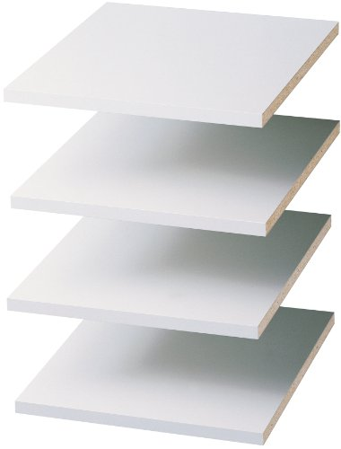 Easy Track RS1412ON 4 Count Closet Shelf Tower Pack, 12-Inch, White by Easy Track