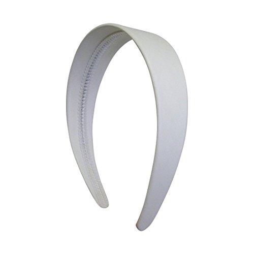 White Leather Headband Solid Women product image