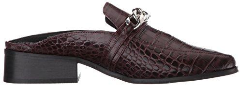 Steven Di Steve Madden Womens Swanki Slip-on Loafer Burgundy Crocodile